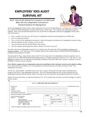 Ides Audit Form - Fill Online, Printable, Fillable, Blank   PDFfiller