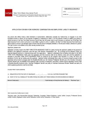 Fillable Online Supplemental Application Form - State Compensation ...