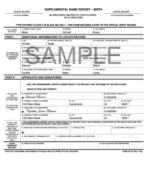 Supplemental birth report fill online printable fillable blank supplemental birth report yadclub Gallery