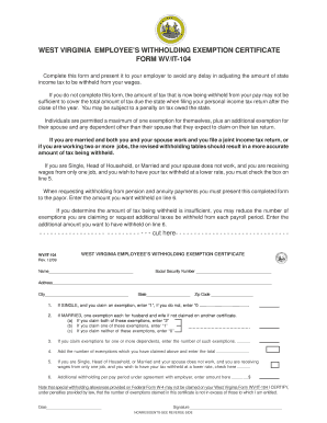Fillable Wv Tax Exempt Certificate - Fill Online, Printable ...