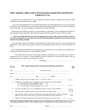 Wv State Withholding Forms Fillable - Fill Online, Printable