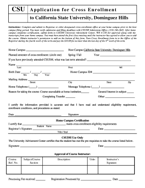 cal state application form