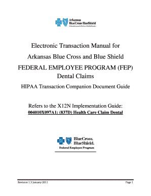 Fillable Online Dental Claims - Arkansas Blue Cross and Blue ...