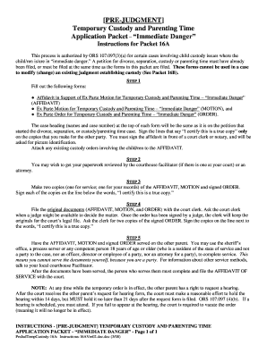 Printable Temporary Custody Forms Oregon - Fill Online, Printable ...