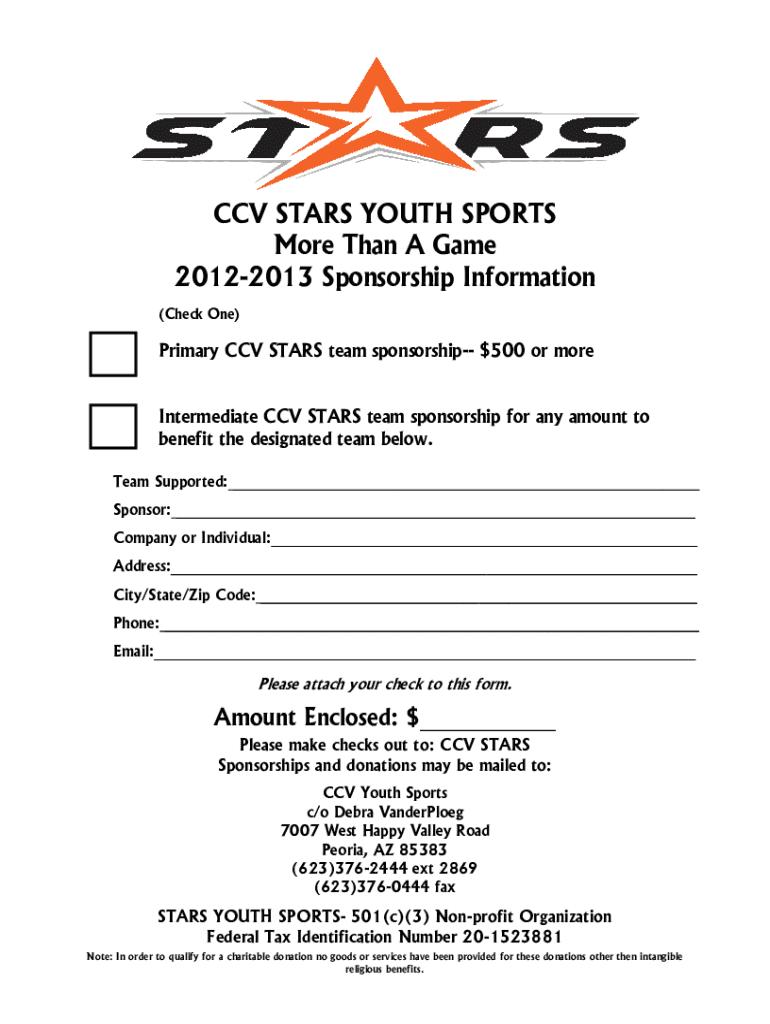Youth Sponsorship Letter - Fill Online, Printable, Fillable