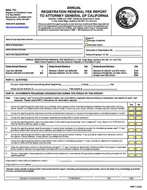 Annual Registration Renewal Fee Reportpdffillercom Fill