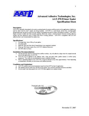 Aat 570 Primer Sealer Fill Online Printable Fillable