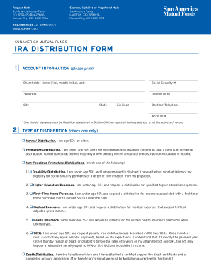 Sunamerica Ira Withdrawal Form - Fill Online, Printable, Fillable ...