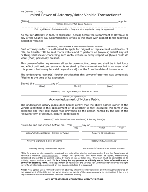 Bill Of Sale Form Maryland Restricted Power Of Attorney Form ...