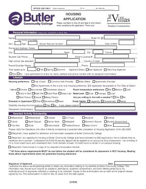 Fillable sample security deposit refund letter from landlord housing application studentlife butlercc altavistaventures Images