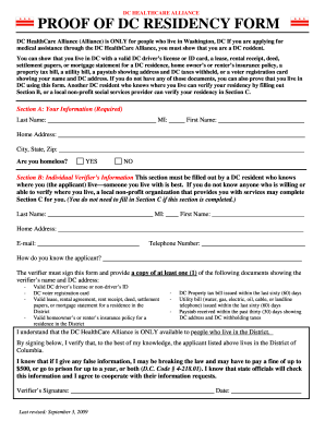dc proof residency fill online printable fillable With dmv proof documents