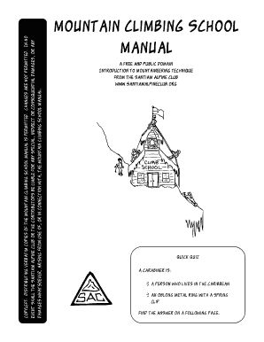 Mountain Climbing School Manual - Santiam Alpine Club - santiamalpineclub