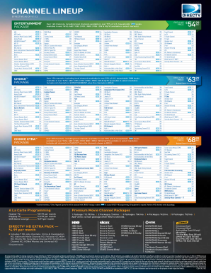 photograph about Printable Directv Channel Lineup identified as 2017-2019 Style DIRECTV Channel Lineup Fill On the web, Printable