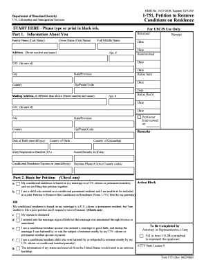 Printable I 751 Form In Care Of Name