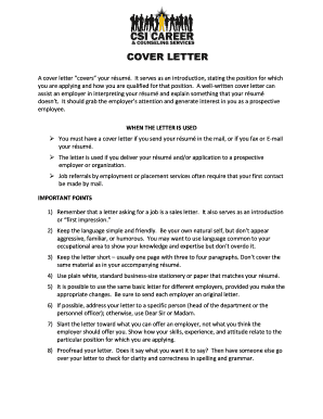what is a cover letter for a job csi fax cover letter fill printable fillable 14120
