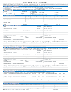home equity loan application pdf fillable