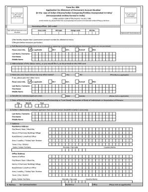 Form card 49a pan pdf 2014 application new