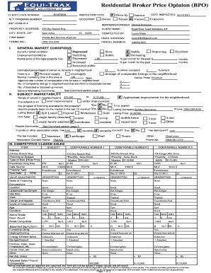 Bpo Real Estate Form - Fill Online, Printable, Fillable, Blank ...