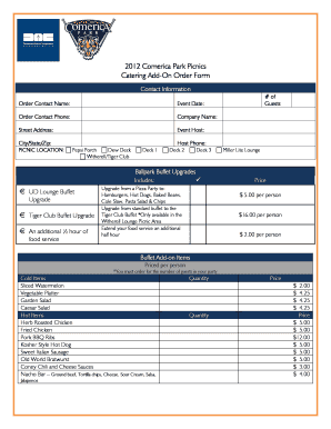 photograph about Printable Detroit Tigers Schedule named Detroit Tigers Suite Menu - Fill On-line, Printable, Fillable