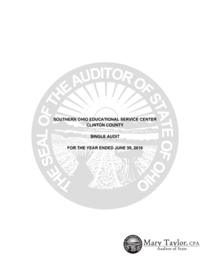 The attached audit report was completed and prepared for release prior to the commencement of - auditor state oh