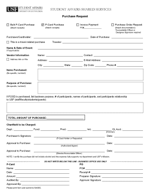 receipt of purchase form