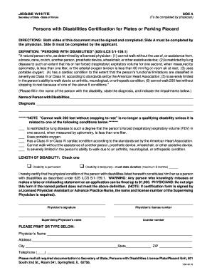 Illinois Handicap Placard Form Fill Online Printable