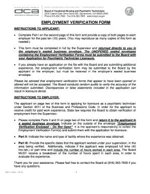 Bvnpt License Verification Form - Fill Online, Printable, Fillable ...