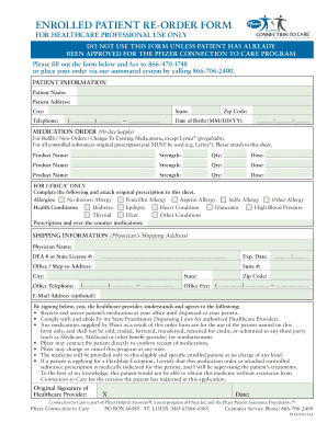 Pfizer Care Connection - Fill Online, Printable, Fillable, Blank ...