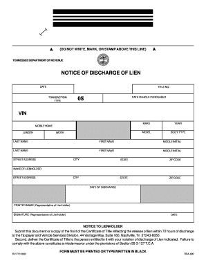 Tennessee Discharge Fill Online Printable Fillable