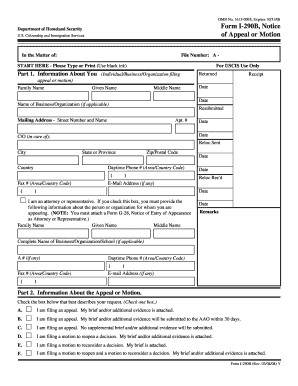 Form I 290b Instructions - Fill Online, Printable, Fillable, Blank ...