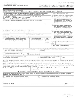 Atf Form 1 Fillable - Fill Online, Printable, Fillable, Blank ...