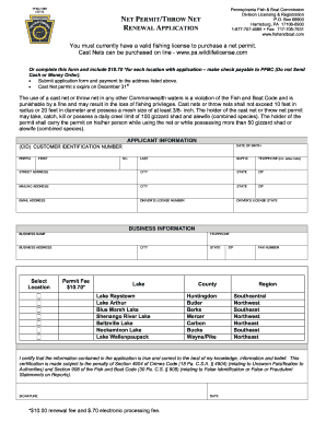 Pennsylvania dip net permit fill online printable for Where do i get a fishing license