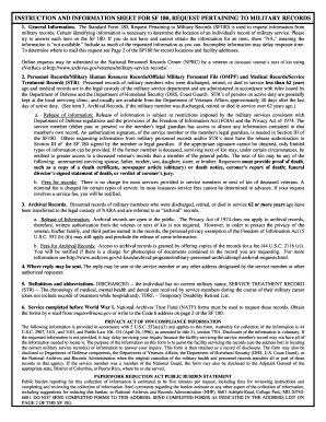 standard form 180  Fillable Online cavalrycountry The Standard Form 8 ...