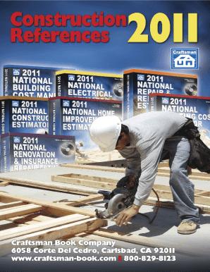 Craftsman Estimator 2011 Pdf - Fill Online, Printable