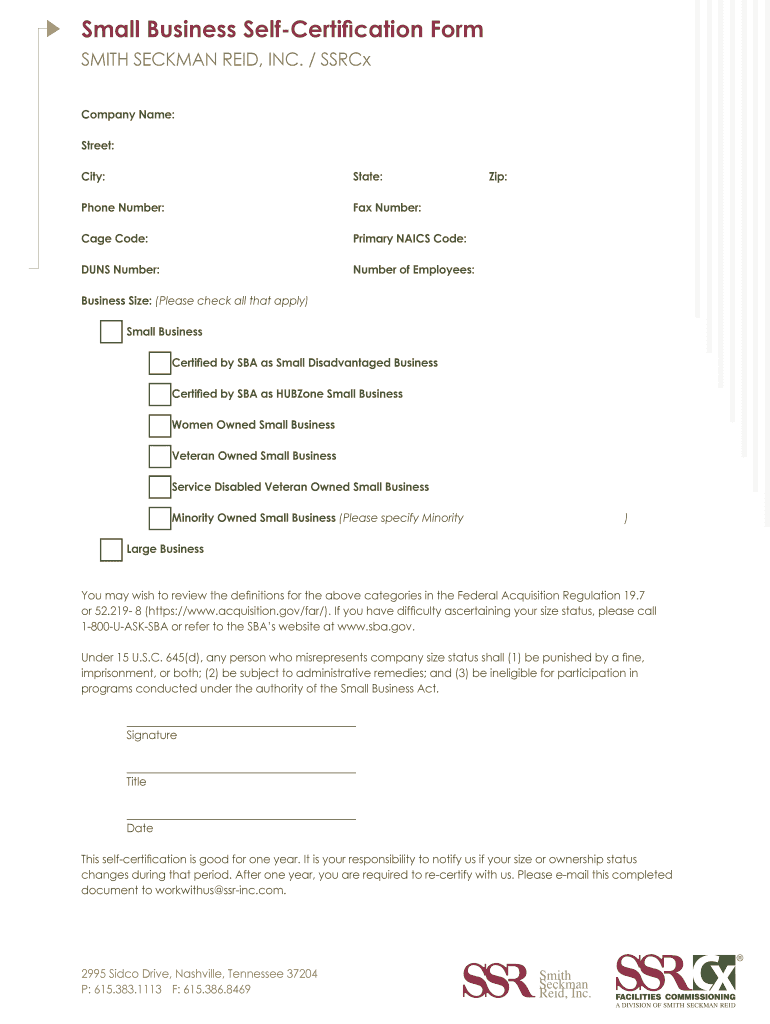 certification self business form statement pdf fill sign template certified printable blank pdffiller company signnow