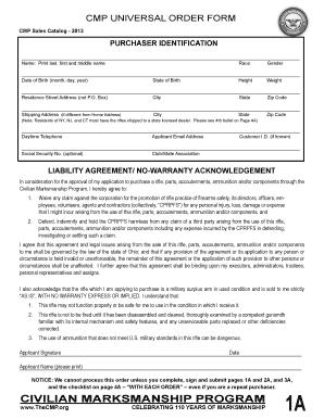 Cmp Order Form Fill Online Printable Fillable Blank