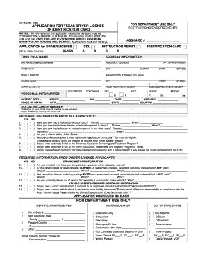 Texas Printable Dl14a Form - Fill Online, Printable, Fillable ...