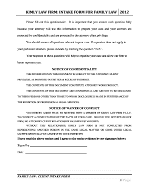 how to fill law form