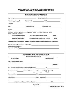 Fgcu Volunteer Form - Fill Online, Printable, Fillable, Blank ...