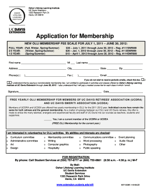 w2 form uc davis  Fillable Online extension ucdavis Application for Membership ...