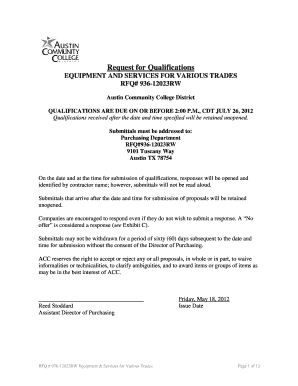 Online Rfq Template Fill Online Printable Fillable