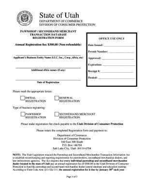 ... /Secondhand Merchant Registration Form - consumerprotection utah