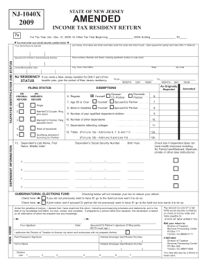 Amended tax return: new jersey amended tax return instructions.