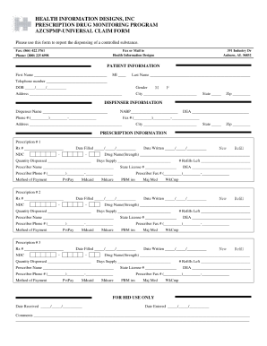 Universal Claim Form - Fill Online, Printable, Fillable, Blank ...