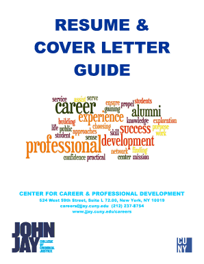 RESUME & COVER LETTER GUIDE - jjay cuny