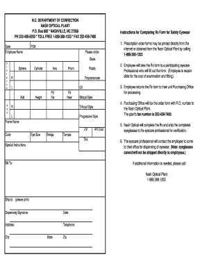 Blank Optical Prescription Format Pdf - Fill Online, Printable ...