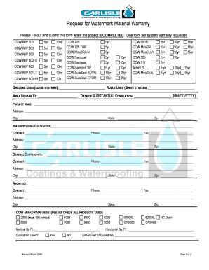 Ccw Wip Warranty Fill Online Printable Fillable Blank