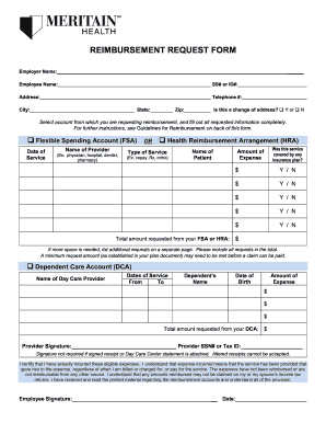 Meritain Health Reimbursement - Fill Online, Printable, Fillable ...