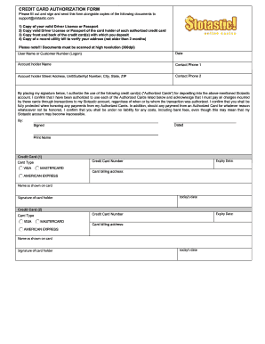 free credit card authorization form pdf fillable fill online