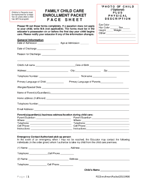 18 Printable Sign In Sheet For Daycare Forms And Templates